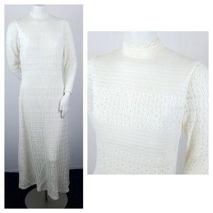 Vintage Caledonia Knitwear Dress Sweater Boho